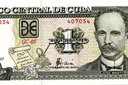 2003 CUBA 1PESO 150 ANIVERSARIO DE NATALICIO DE J. MARTI UNCIRCULATED