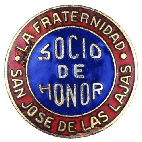 1950s Cuba Fraternidad San José De las  Lajas socio de HONOR pin.