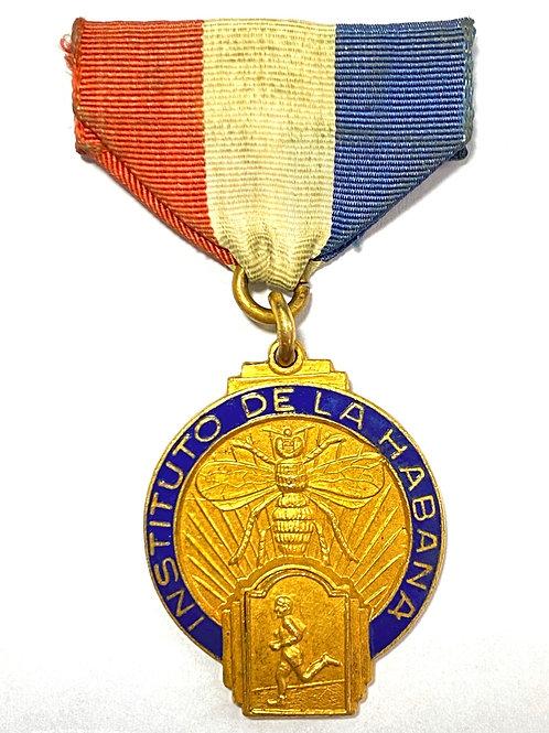 Rare Cuban Medal Instituto D La Habana, Atletismo, 1950s Cuba