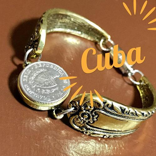 Cuba pulsera con moneda de un real (10 centavos