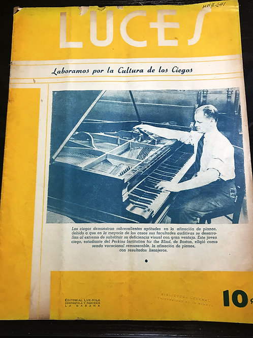 1940s CUBA REVISTA LUCES EDITORIAL LUZ-HILO CONPOSTELA HABANA
