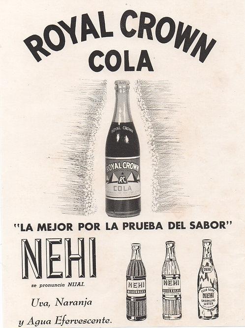 1950s CUBA ROYAL CROWN COLA AND NEHI UVA,NARANJA Y AGUA EFERVECENTE.