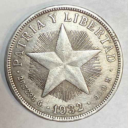 1  peso 1932 Plata