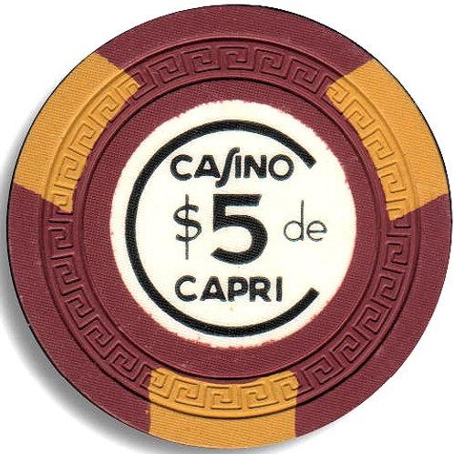 cuba 1950s ficha del Casino Capri habana Chip $ 5 pesos.