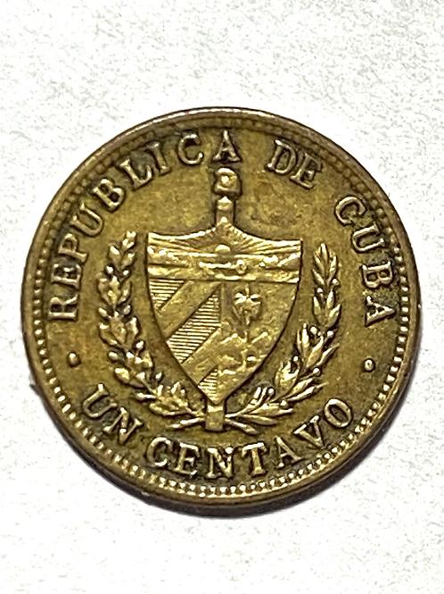 CUBA 1 CENTAVO 1943 COBRE