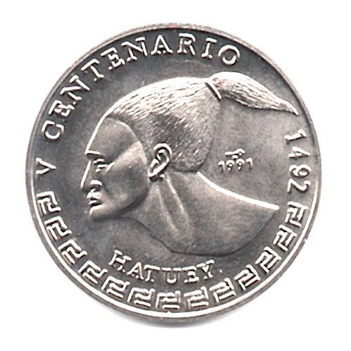 1 PESO 1991 V CENTENARIO DE HATUEY 1492 CUBA UNCIRCULATED