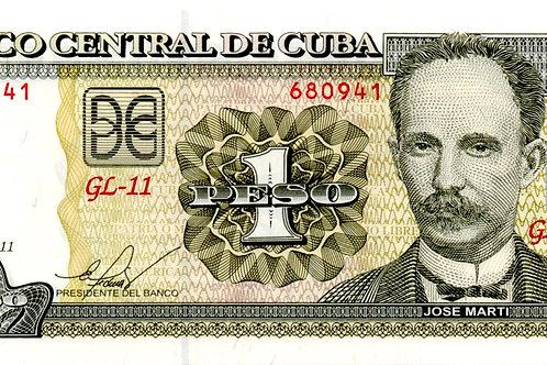 CUBA 1 PESO 2011 GL-11 UNCIRCULATED BCC.