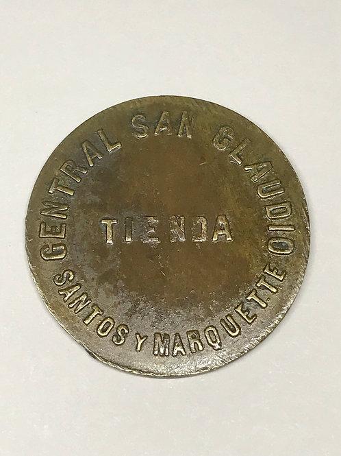CUBA san Claudio santos y Marquette tienda vale 50cs. En Efectos 1930s.