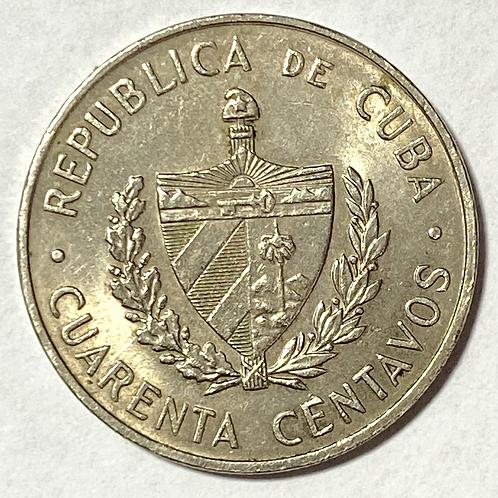 Cuba 40 centavos super condition 1962