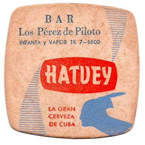 Coaster, BAR LOS PEREZ DE PILOTO INFANTA Y VAPOR Habana Cuba.