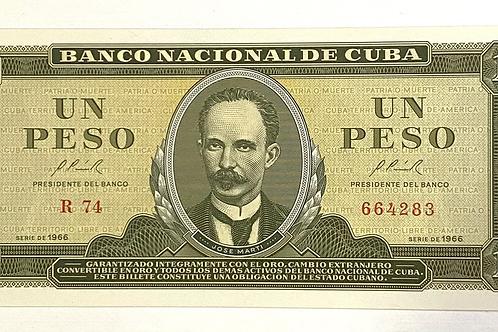 Cuba 1 PESO 1966 UNCIRCULATED