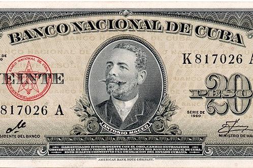 CUBA 20 PESOS 1960 FIRMA CHE
