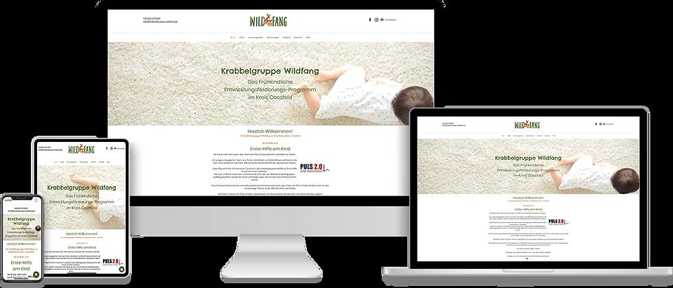 Website-Erstellung mit Online-Shop für die Krabbelgrupp Wildfang
