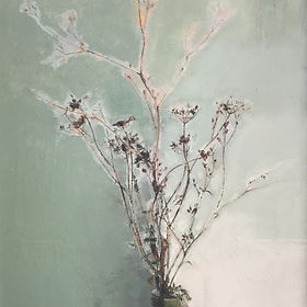 still life painting of flowers by Adrian Parnell.