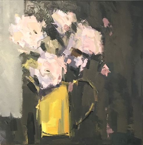 Flowers in Yellow Jug