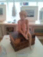 Merry a sculpture by Tom Greenshields, Tom Greenshields sculpture in bronze, bronze resin, copper resin and marble resin available from Waterside Gallery, St Ives. All Tom Greenshields sculpture available from Waterside Gallery, St Ives Cornwall