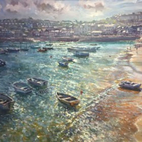 Original paintings by Laurence Dingley pieces by the artist Laurence Dingley available at Waterside Gallery St Ives an affordable art gallery in St Ives Cornwall