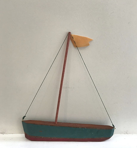 Small Boat with Turquiouse Hull