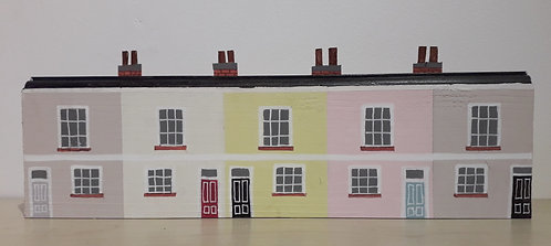 Row of Five Seaside Cottages