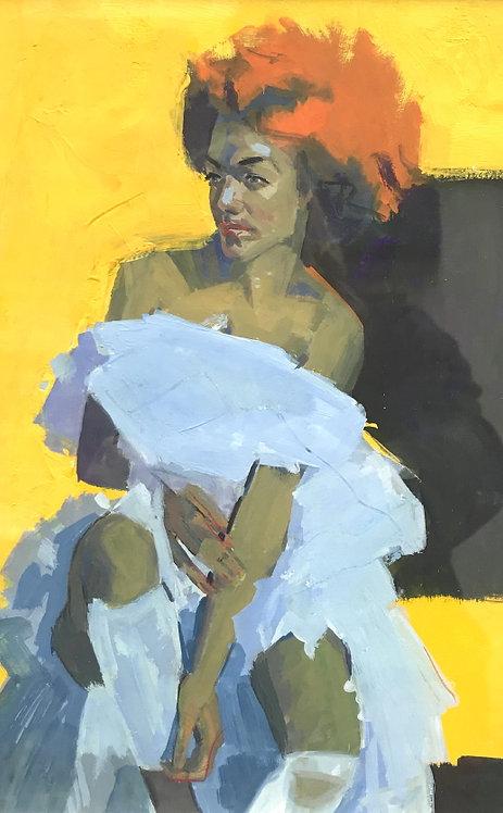 Portrait in Gouache