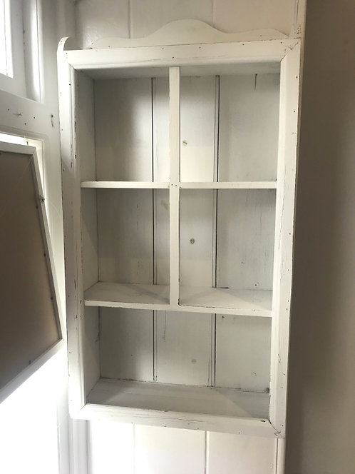 Painted, Wooden Display Cabinet