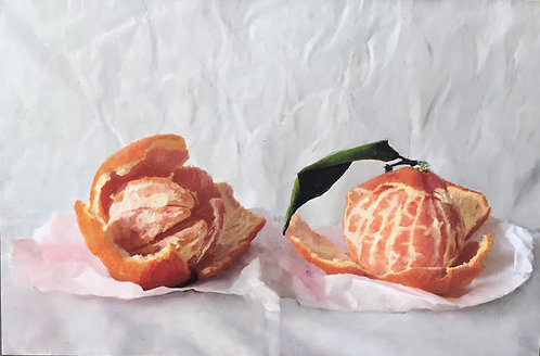 Still Life of Peeled Tangerines