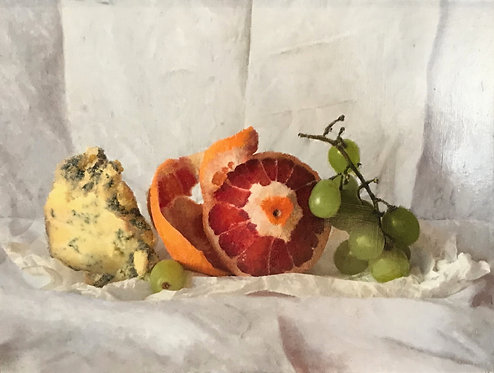 Stilton,Blood Orange and Grapes