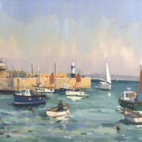 Original paintings by Eric Ward pieces by the artist Eric Ward available at Waterside Gallery St Ives an affordable art gallery in St Ives Cornwall
