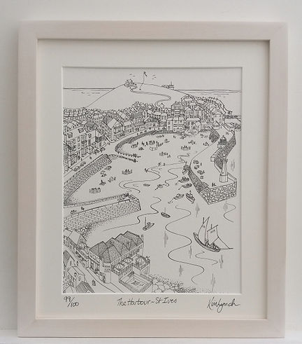 Limited edition print of St Ives Harbour by Kim Lynch.