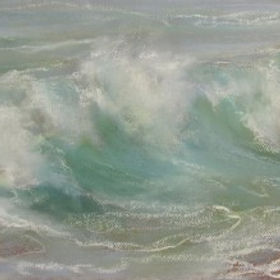 Originl oil painting by Jo Bemis Paintings by Jo Bemis available at Waterside Gallery St Ives an affordable art gallery in St Ives Cornwall