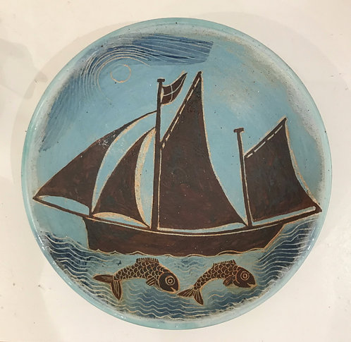 Lugger Bowl with Fish