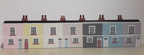 Row of Seven Seaside Cottages