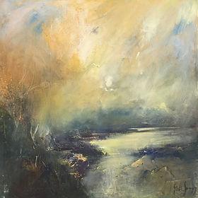Steve Slimm oil painting. Steve Slimm paintings at Waterside Gallery, St Ives.