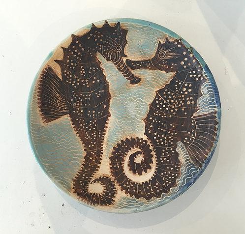 Seahorses Plate