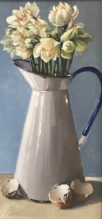 Enamel Jug, and Narcissi
