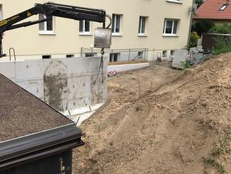Versetzen Beton L-Teile