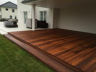 Terrassenbau Holzarbeiten