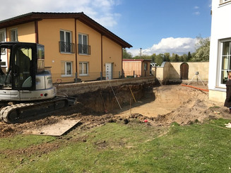 Baugrube Pool
