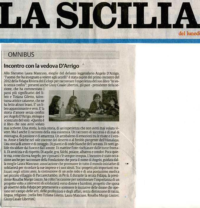 La Sicilia 23 gennaio 2012