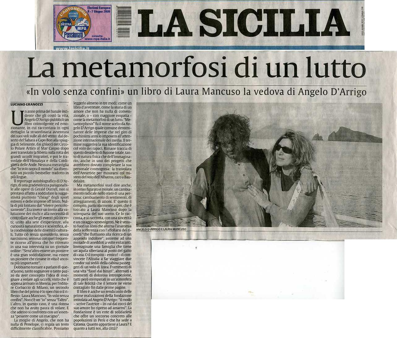 La Sicilia 31 maggio 2009 articolo
