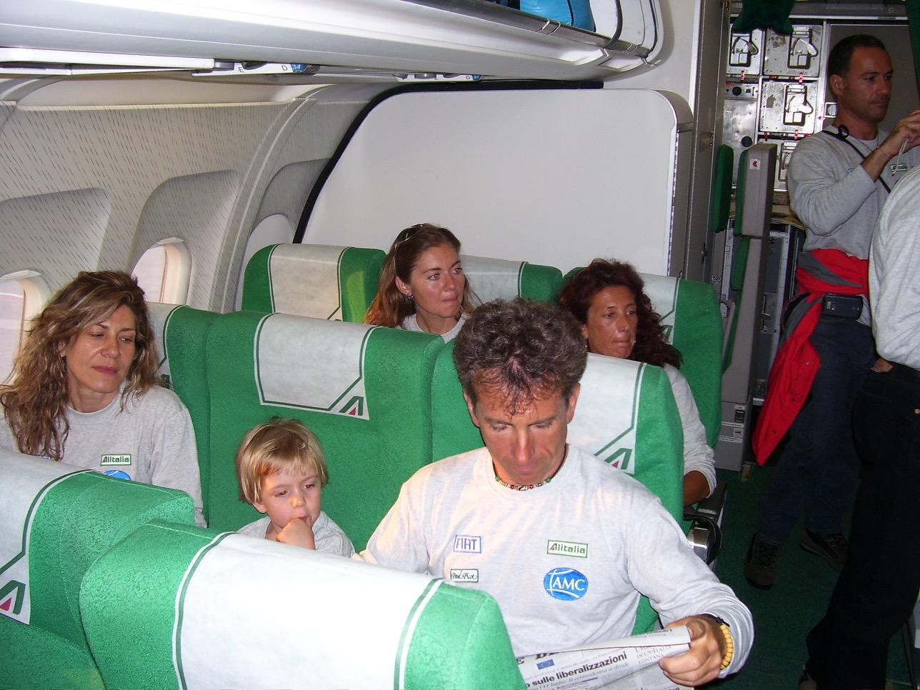 Il team durante il viaggio