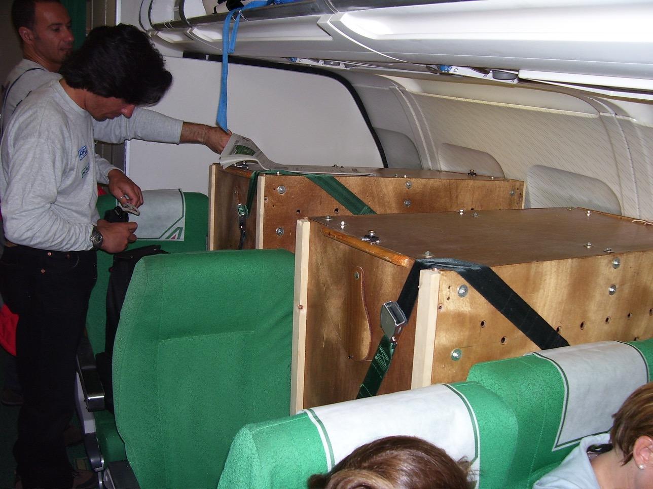 I condor con il team durante il viaggio