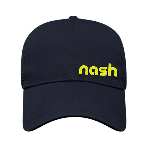 Nash Off-Center Trucker Hat - Navy/Gold