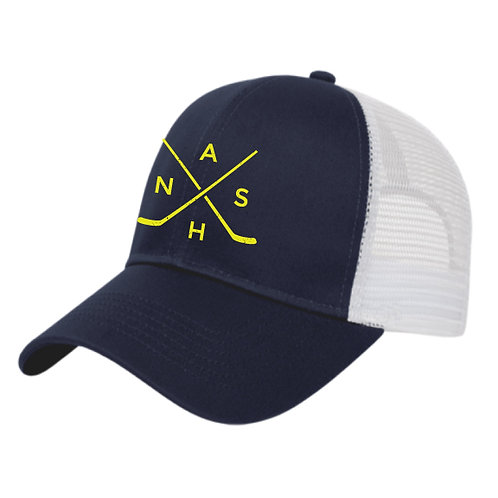 Nash Hockey Trucker Hat - Navy/White