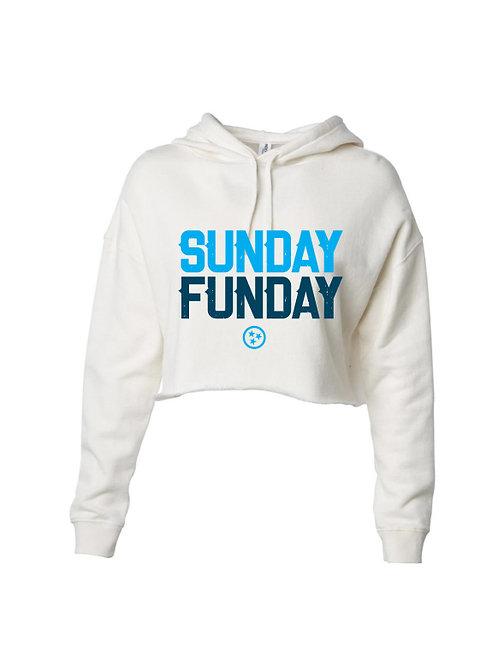 Sunday Funday Women's Crop Hoodie