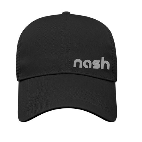 Nash Off-Center Trucker Hat - Black/Gray