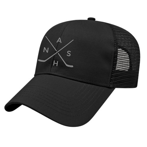 Nash Hockey Trucker Hat - Black