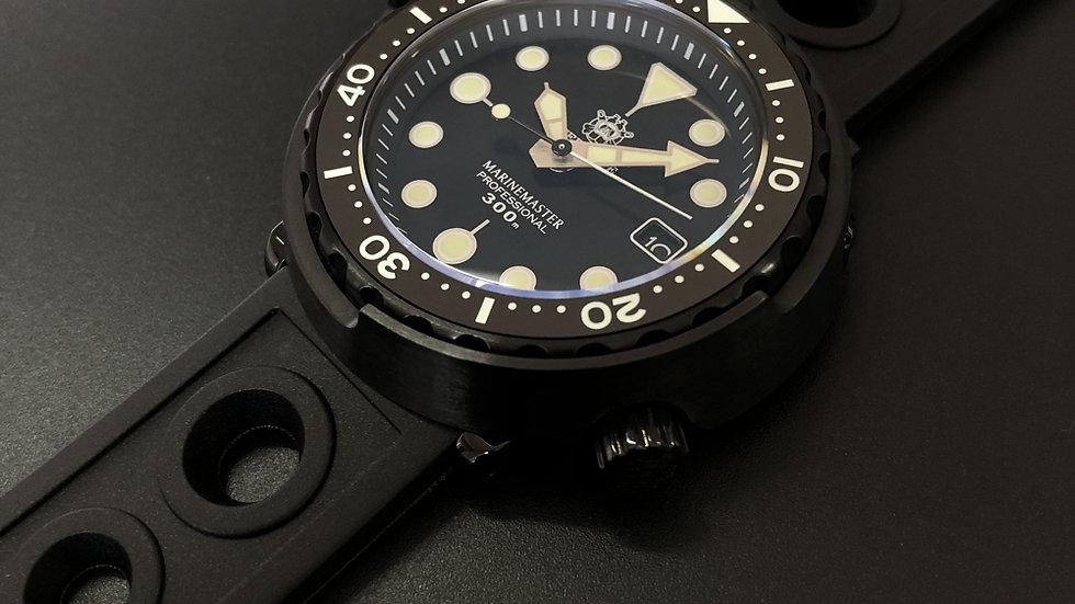 "STEELDIVE SD1975X""Black Tuna Can"" Automatic PVD 300m Diver Watch"