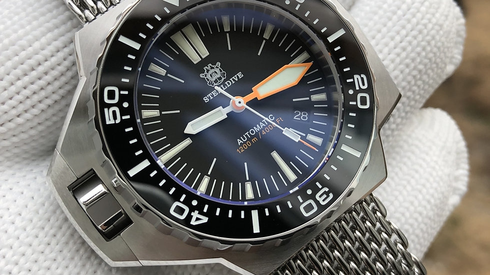 """STEELDIVE SD1969 """"ProPlof"""" Automatic 1200m Diver Watch"""