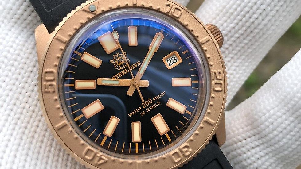 "STEELDIVE SD1962s ""Bronze 62MAS"" Automatic 200m Diver Watch"